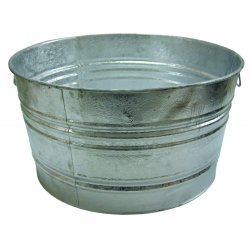 Magnolia Brush - 1 - 48.61-qt. Galvanized Tub