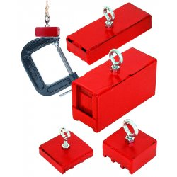 Magnet Source - 07541 - Heavy Duty Magnetic Base100lb Pull Red
