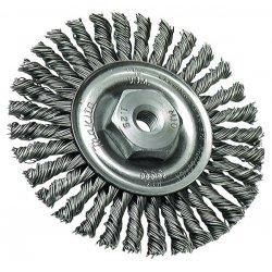 """Makita - 743204-B - 4""""x.020 Ss Twist Wire Brush Wheel W/m10x1.25"""