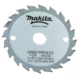 "Makita - 792611-2 - 3-3/8"" Carbide Tipped Blade F/5090 15mm Arbor, Ea"