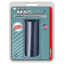 MagLite - AM2A026 - Plain Black Leather Holster F/aa Mini M