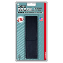 MagLite - AM2A056 - Black Nylon Full Flap Holster F/mini-mag
