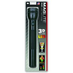 MagLite - ST3D016 - Mag 3D Cell LED Handy Torch - LED - 3W - D - Aluminum - Black