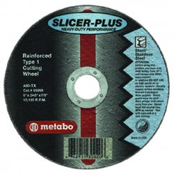 "Metabo - 55352 - 6"" X7/8 X .045 Za80 Stainless Steel Wheel"
