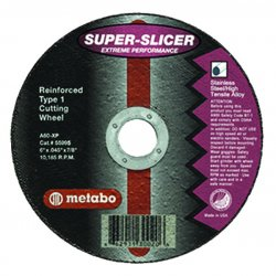 "Metabo - 655995000 - 6""x.045x7/8"" Type 1 Slicer Wheel A60xp Grit"