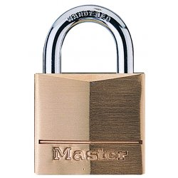 Master Lock - 140DLH - Different-Keyed Padlock, Extended Shackle Type, 2 Shackle Height, Brass