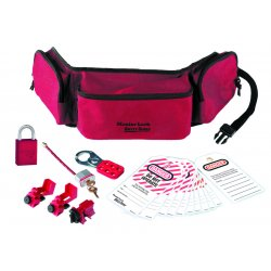 Master Lock - 1456E1106 - Master Lock Red Thermoplastic Zenex Personal Lockout Pouch Kit, ( Each )
