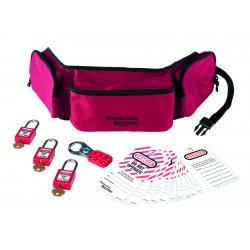 Master Lock - 1456P410KA - Lockout Pouch Personal Kit With Locks & Tags Master Lock Co., Ea