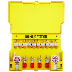 "Master Lock - 1483BP3 - Lockout Station, Filled, General Lockout/Tagout, 15-1/2"" x 22"""