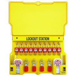 "Master Lock - 1483BP410 - Lockout Station, Filled, General Lockout/Tagout, 15-1/2"" x 22"""