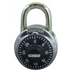 "Master Lock - 1500LH - Combination Padlock Front-Dial Location, 2"" Shackle Height"