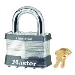 Master Lock - 15DCOM - 5 Pin Tumbler Padlock Keyed Different Laminated