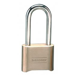 "Master Lock - 175LH - Combination Padlock, Resettable Bottom-Dial Location, 2-1/4"" Shackle Height"