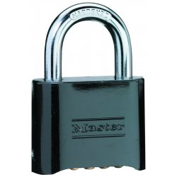 Master Lock - 178BLK - Padlock Die-cast Combination 1 In Hx2 In Wx5/16 In Dia Master Lock Co., Ea