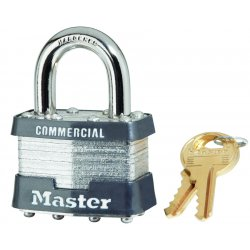 Master Lock - 1DCOM - 4 Pin Tumbler Safety Padlock Keyed Different