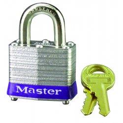"Master Lock - 3LHWHTINK - 4 Pin Tumbler Padlock Keyed Diff. W/2"" Shackl"