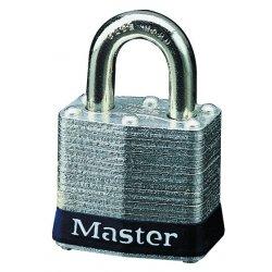"Master Lock - 3UP - Rekeyable Padlock, Open Shackle Type, 3/4"" Shackle Height, Silver"