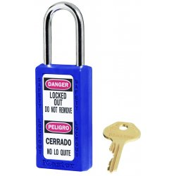 Master Lock - 411BLU - Blue Lockout Padlock, Different Key Type, Master Keyed: No, Thermoplastic Body Material