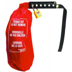Master Lock - 453XL - Lockout Cinch Sack Cover&#x3b; Fits Odd Size and Large Electrical Connectors and Hoist Controls