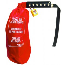 Master Lock - 453XXL - Lockout Cinch Sack Cover&#x3b; Fits Odd Size and Large Electrical Connectors and Hoist Controls
