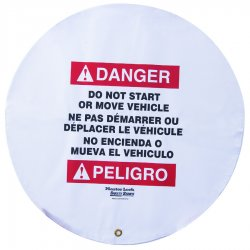 Master Lock - 4724 - Danger Sign, 24 x 24In, R and BK/WHT, Vinyl
