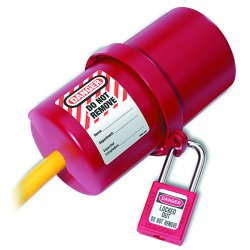 Master Lock - 488 - Lockout Electronic Plug Rotating Red Master Lock Co. 3 - 6 In., Ea