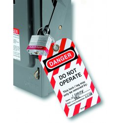 Master Lock - 470-497A - Do Not Operate Safety Tags W/gromm.&ties 12/bag