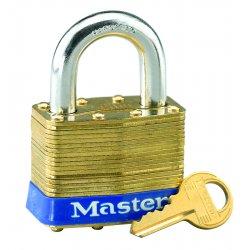Master Lock - 4KD - Master Lock Brass Laminated Brass General Security Padlock Hardened Steel Shackle, ( Each )