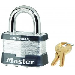 "Master Lock - 5DCOM - Master Lock Yellow Steel Padlock With 1"" Shackle (Keyed Differently)"