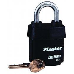 Master Lock - 6121 - Padlock Weather Keyed Different Steel 1 1/8 In L 5/16 In Diameter Master Lock Co., Ea