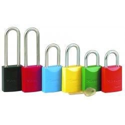 Master Lock - 6835ORJ - Master Lock Orange 1 9/16' X 1 15/16' High-Visibility Aluminum Safety Lockout Padlock With 1 1/16' Shackle (6 Locks Per Set, Keyed Differently)