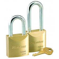 Master Lock - 6850 - Padlock Rekeyable 5pin 6850 Keyed Different 1.5 In Hx2 In Wx3/8 In Dia Brass Master Lock Co., Ea