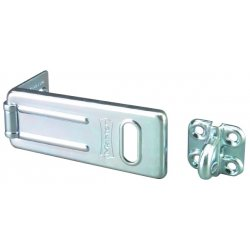 "Master Lock - 703D - Conventional Fixed Staple Hasp, 3-1/2"" Length, Steel, Zinc Plated Finish"
