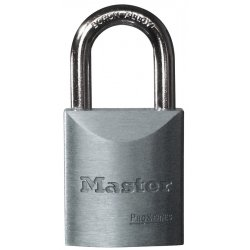 "Master Lock - 7040 - Different-Keyed Padlock, Open Shackle Type, 1-3/16"" Shackle Height, Silver"