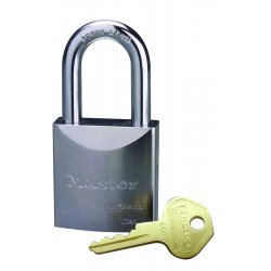 "Master Lock - 7050 - Different-Keyed Padlock, Open Shackle Type, 1-1/2"" Shackle Height, Silver"