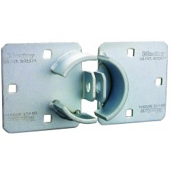 Master Lock - 770 - Hasp Padlock, Shrouded Shackle Type, 4-1/2 Shackle Height, Silver