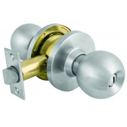 Master Lock - BLC0332D - Comm Cyl Lockset Ball Knob Privacy Satin Chrome