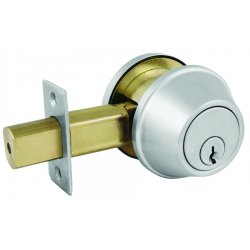 Master Lock - DSC0632DKA4 - Comm Sgl Cyl Deadbolt Satin Chrome Ka4 Schlage C