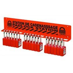 Master Lock - S1518 - Wall Bracket 18 Padlock Red 3 In Hx6 In Wx1.5 In D Masterlock Steel, Ea