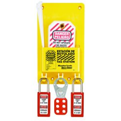 "Master Lock - S1601AX - Tag Station, Filled, General Lockout/Tagout, 7-3/4"" x 5-3/4"""