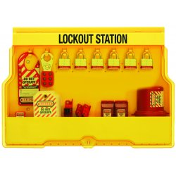 Master Lock - S1850E3 - Lockout Station, Filled, Electrical Lockout, 15-1/2 x 23-1/2