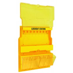 Master Lock - S1900 - Master Lock Yellow Thermoplastic Zenex Wall Mount Lockout Station, ( Each )