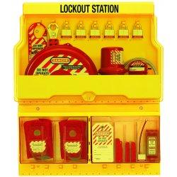 Master Lock - S1900VE3 - Lockout Station, Filled, Electrical/Valve Lockout, 27 x 23-1/2