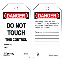 Master Lock - S4028 - Do Not Touch - This Control Safety Tag