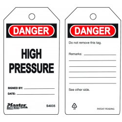 Master Lock - S4035 - High Pressure Safety Tag