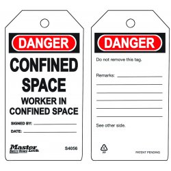 Master Lock - S4056 - Confined Space - Workerin Confined Space