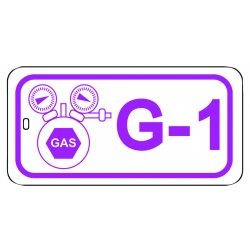 "Master Lock - S4500G4 - Gas Lockout Isolation ID Tag, Industrial-Grade Polypropylene, G-4, 1-1/2"" x 3"", 1 EA"