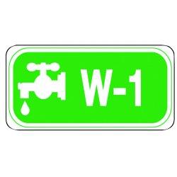 "Master Lock - S4500W4 - Water Lockout Isolation ID Tag, Polypropylene, W-4, 1-1/2"" x 3"", 1 EA"