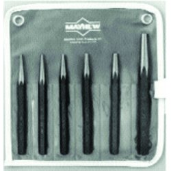Mayhew Tools - 61340 - 5 to 6 Steel Solid Punch Set&#x3b; Number of Pieces: 6