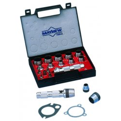 "Mayhew Tools - 66004 - 9"" Alloy Steel Metric Hollow Punch Set&#x3b; Number of Pieces: 16"